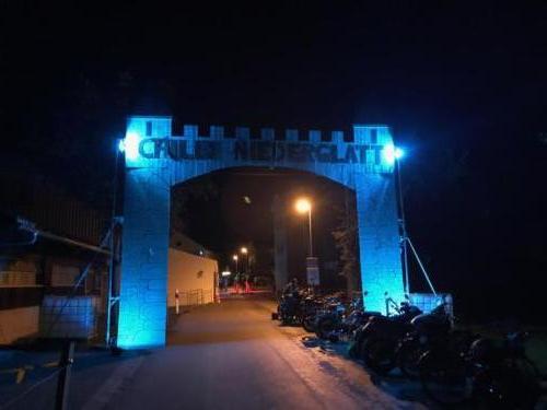 Portal Chilbi Niederglatt & Beleuchtung